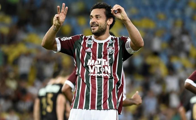Fred, gol, Fluminense, Botafogo, Maracanã (Foto: André Durão)