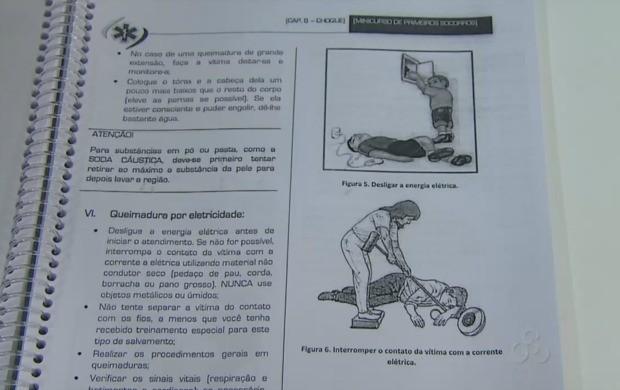 Os alunos pretendem instruir técnicas que podem ajudar em casos de emergência. (Foto: Bom Dia Amazônia)