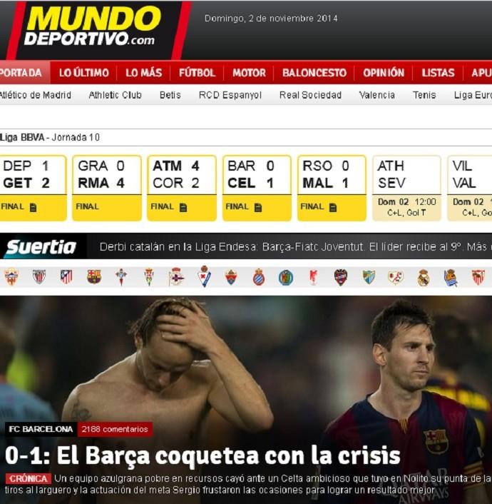 Capa Mundo Deportivo Barcelona (Foto: Reprodução)