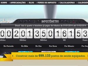 Impostômetro bateu marco de R$ 200 bilhões (Foto: Reprodução)