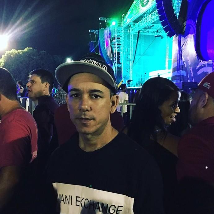 Celso Júnior, um dos ganhadores do Concurso Cultural, também curtiu o evento (Foto: Arquivo Pessoal)