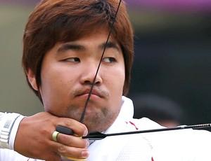 Im Dong-Hyun na prova de tiro com arco em Londres (Foto: Reuters)