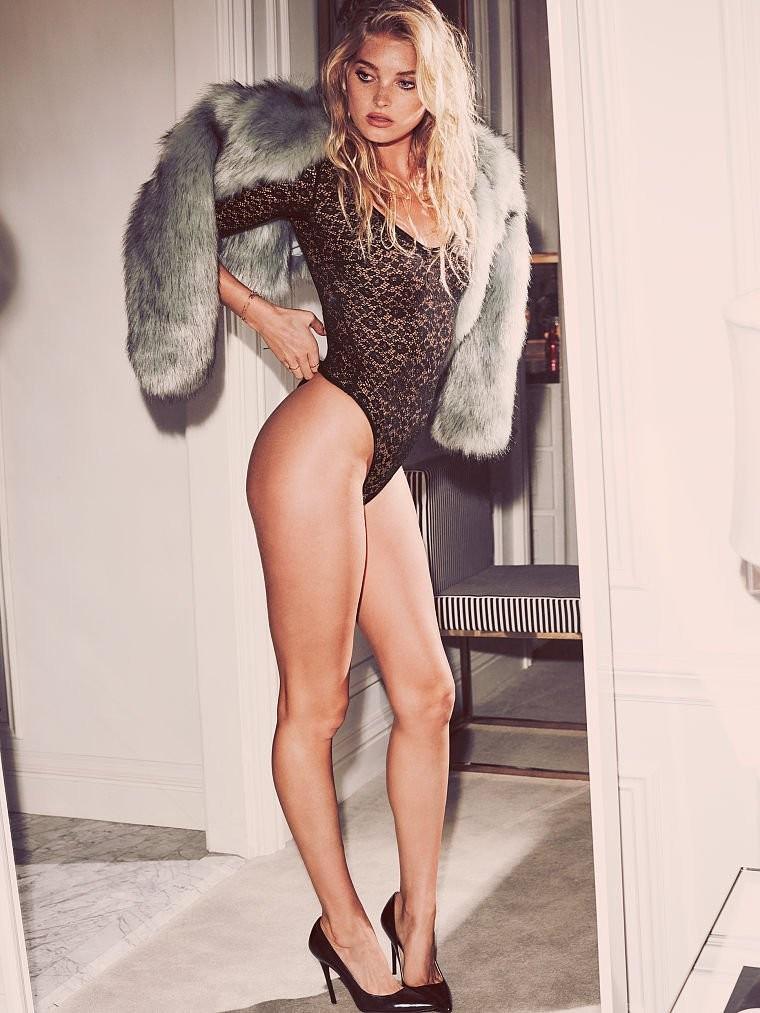 Elsa Hosk mostra sua sensualidade em nova campanha de lingerie (Foto: Divulgação )