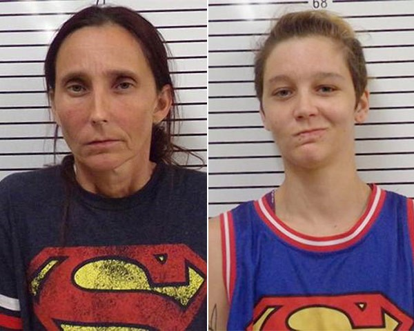 Patricia Spann e Misty Spann (Foto: Divulgação Stephens County Sheriff's Office)