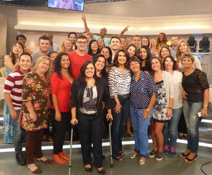 Plateia se diverte ao lado da apresentadora (Foto: Viviane Figueiredo Neto / Gshow)