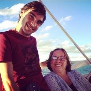 Giba e mãe (Foto: Reprodução/ Instagram Giba)