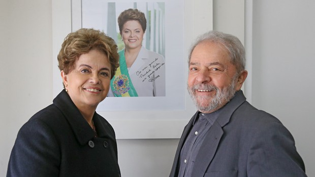 Dilma e Lula se encontraram no Instituto Lula (Foto: Ricardo Stuckert/Instituto Lula)