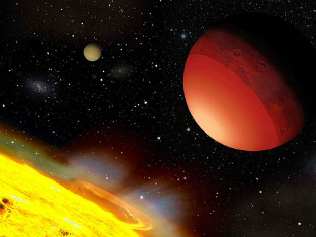 Cientistas simularam a vaporização da Terra para estudar a atmosfera de outros planetas (Foto: A. Leger/Icarus)