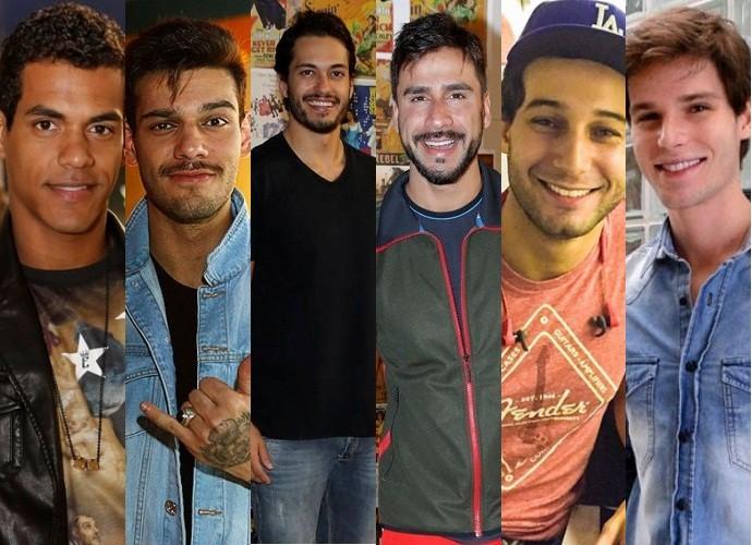 Marcelo Mello, Lucas Lucco, Raphael Viana, Julio Rocha, Rafael Almeida e Jonatas Faro falam sobre loucuras de fãs (Foto: Gshow)