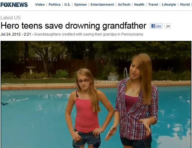 As adolescentes Cassidy e Madison McHugh, em imagem da Fox News (Foto: Reprodução)
