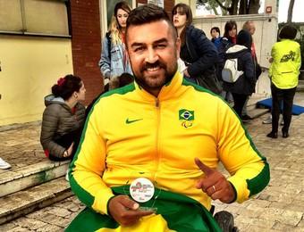 André Rocha paratleta arremesso de peso (Foto: Arquivo pessoal)