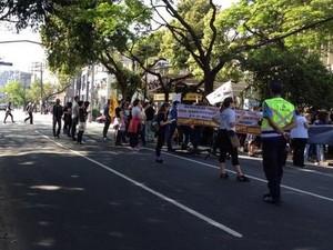 Protesto dos servidores públicos do RS (Foto: EPTC/Divulgação)