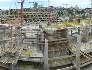 arena fonte nova obras (Foto: Divulgação/Arena)