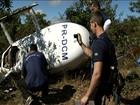 Perícia é realizada em helicóptero que caiu em Corumbá de Goiás