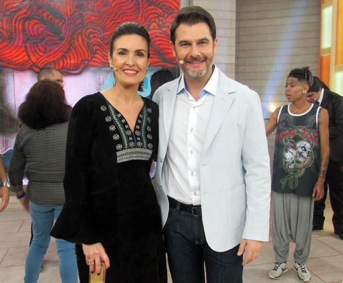 Fátima com o Dr. Fernando Gomes Pinto  (Foto: Juliana Hippert/Gshow)