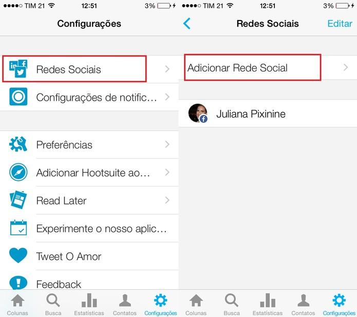 Faça login no Hootsuite e clique em Adicionar Rede Social (Foto:: Reprodução/Juliana Pixinine)