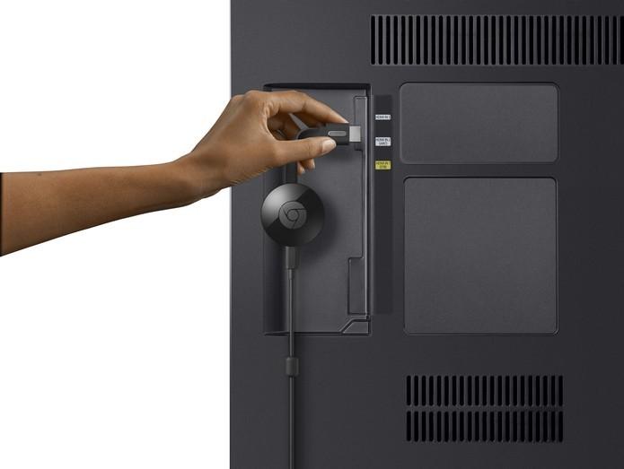 Novo Chromecast ganhou design redondo (Foto: Divulgação/Google)