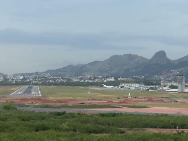 Obras do Aeroporto de Vitória estão 55% prontas (Foto: Reprodução / TV Gazeta)