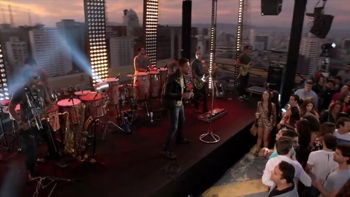 Novo DVD da banda contou com um pôr do sol cinematográfico. (Foto: Se Liga VM)