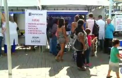 Primeira Feira da Saúde é realizada em Sapucaia (Reprodução/TV Rio Sul)