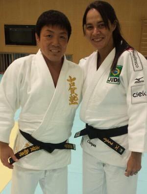 rosicleia campos e Toshihiro Koga treino judô japão (Foto: Reprodução/Facebook)