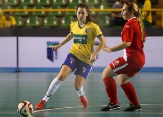 Brasil vence a Canadá no Mundial Universitário de Futsal, em Anápolis (Foto: Fotojump/Divulgação)
