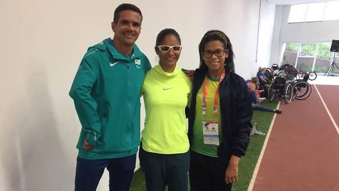 Edson Cavalcante, Rebeca Campos e Jerusa Geber conquistam resultados positivos no Open internacional, em São Paulo (Foto: Geison Moraes/Arquivo Pessoal)