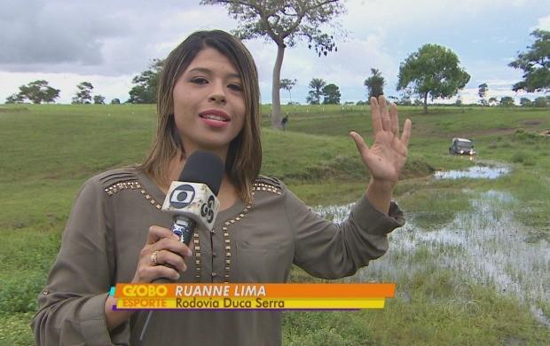 Jornalista se saiu bem, segundo um organizador da competição (Foto: Globo Esporte AP)