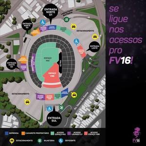 Arena tem novas instalações de apoio para o Festival de Verão 2016 (Foto: Divulgação)