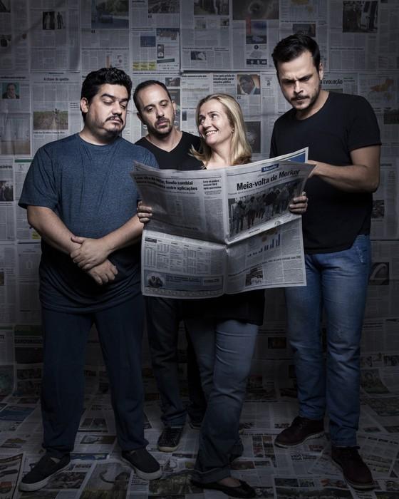 Lanna,Nelito,Martha e Zorzanelli os redatores do site Sensacionalista (Foto: Stefano Martini/ÉPOCA)