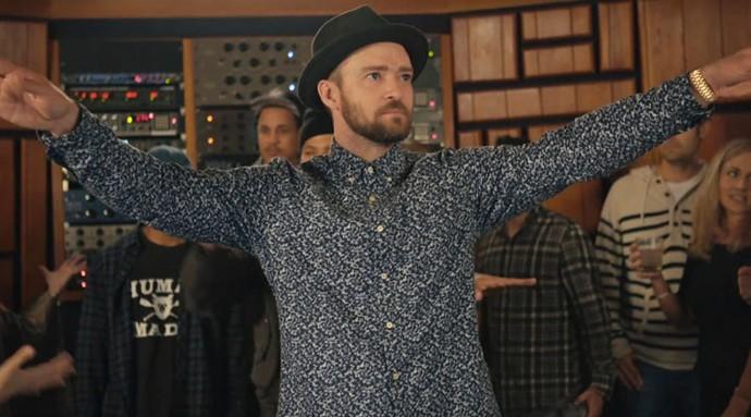 Justin Timberlake no clipe de Can't Stop the Feeling (Foto: Reprodução)