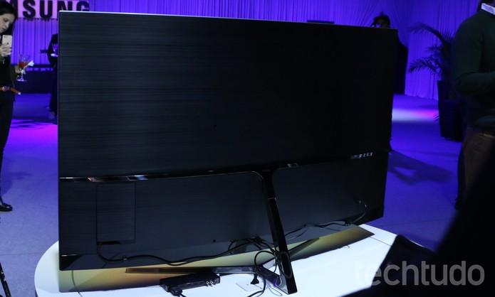 Traseira da Smart TV SUHD da Samsung de 65 polegadas (Foto: Luciana Maline/TechTudo)