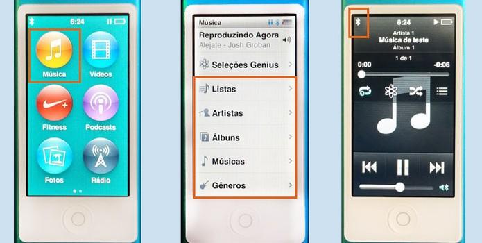 Toque suas músicas no iPod para executar na caixa de som Bluetooth (Foto: Reprodução/Barbara Mannara)