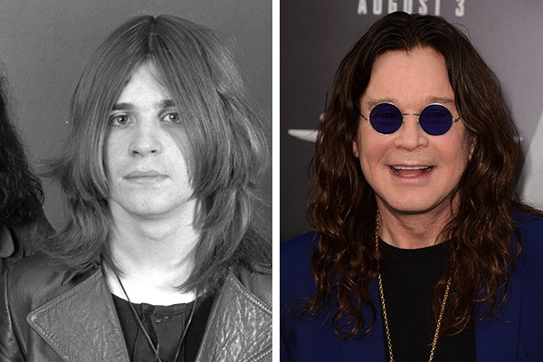Ozzy Osbourne nos anos 70 e hoje em dia (Foto: Getty Images)