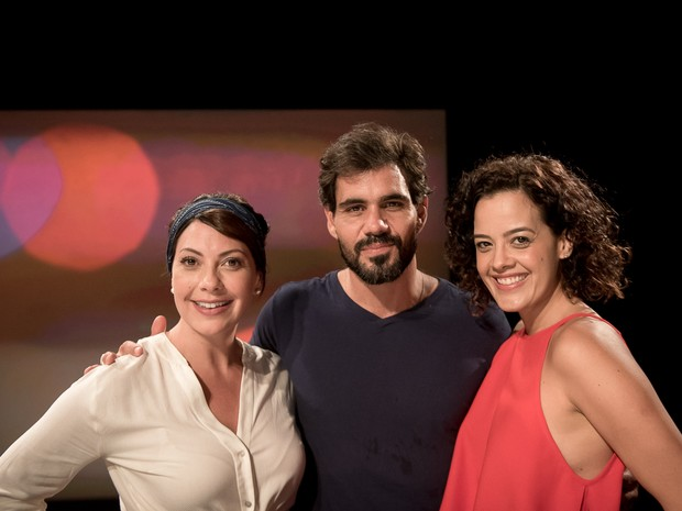 Fabiula Nascimento, Juliano Cazarre e Maeve Jinkings (Foto: Ana Paula Amorim)