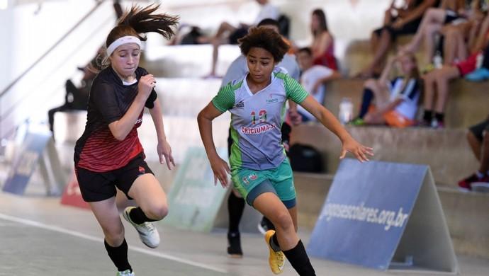 Criciúma, Santa Catarina, futsal feminino, Jogos Escolares da Juventude, JEJs (Foto: Gaspar Nóbrega/Exemplus/COB)