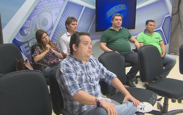 Representantes dos candidatos ao governo do estado (Foto: Reprodução/TV Amapá)
