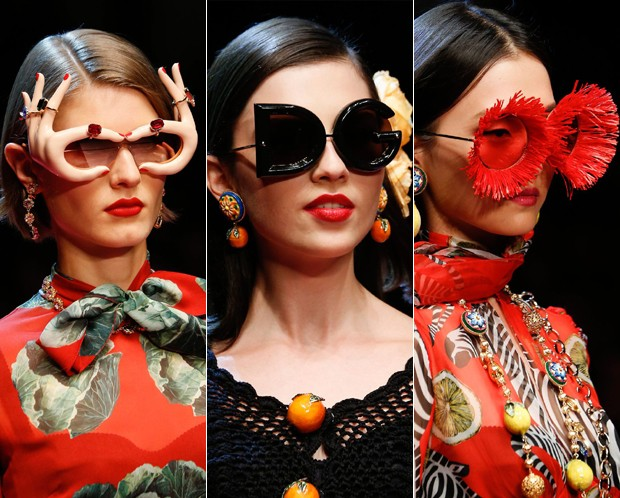 Alguns dos modelos de passarela  (Foto: Getty Images)