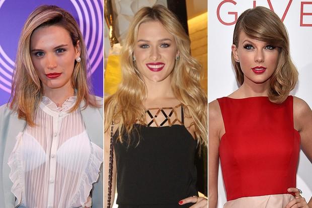 Bianca Bin, Fiorella Mattheis e Taylor Swift (Foto: Alex Palarea/AgNews - Amandio Santos/Agnews - AFP )