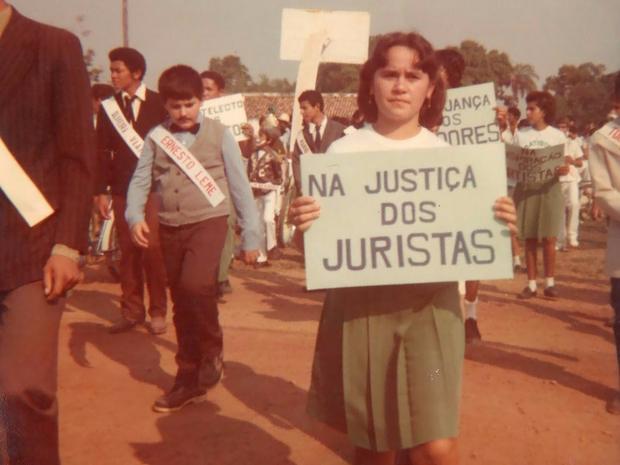 Duas escolas tradicionais na cidade participavam de desfile, lembram moradores (Foto: Renato Franklin/Arquivo Pessoal)