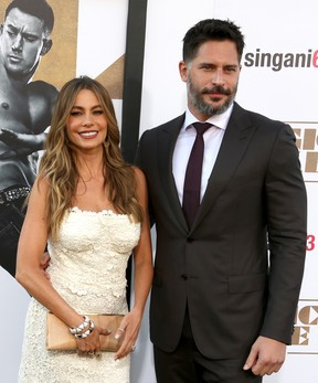 Joe Manganiello e Sofia Vergara em première de filme em Los Angeles, nos Estados Unidos (Foto: Frederick M. Brown/ Getty Images/ AFP)