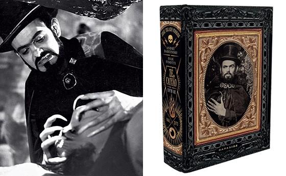 O coveiro galante em Esta noite encarnarei no teu cadáver (1967) e a biografia de 666 páginas lançada pela DarkSide Books (Foto: Fotos: acervo Marcelo Colaiacovo)