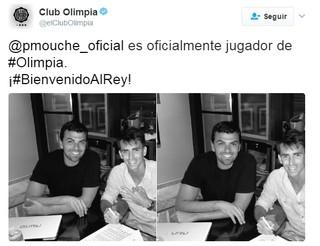 Pablo Mouche Olimpia (Foto: Reprodução/Twitter)