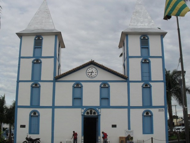 O primeiro Santuário do Divino Pai Eterno, em Trindade (GO), foi inaugurado em 1912 e passou a ser mais conhecido como Santuário Velho (Foto: Humberta Carvalho/G1)
