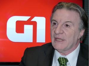 Ogier Buchi, candidato do PRP ao Governo do Paraná (Foto: Sérgio Tavares Filho/G1)