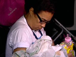 Conselheira tutelar levou a criança para um abrigo, em Vila Velha (Foto: Reprodução/ TV Gazeta)