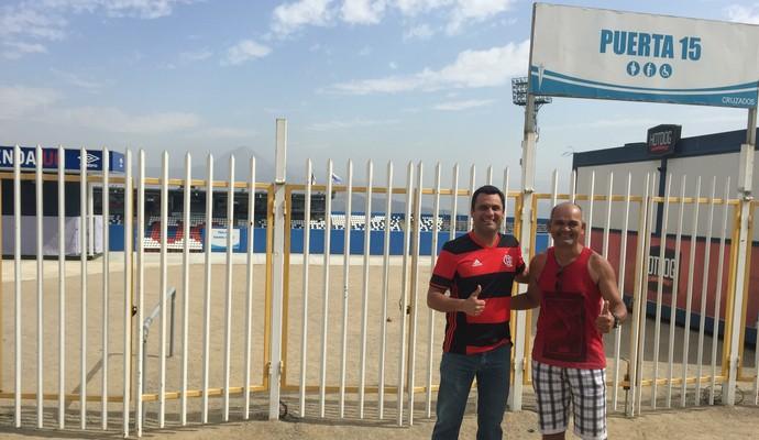 Torcedores do Fla vão ao Chile acompanhar o Flamengo (Foto: Raphael Zarko)