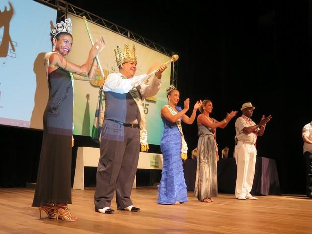 Corte Carnavalesca esteve presente durante a entrega dos prêmios (Foto: LG Rodrigues / G1)