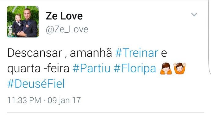 Zé Love Figueirense (Foto: Reprodução/Twitter)