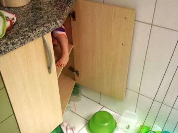 Para os pais, Maria não tem a intenção de se esconder, apenas de explorar (Foto: Arquivo Pessoal/Leo Victorino)